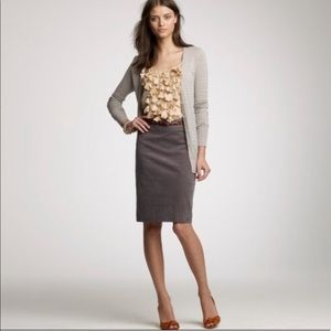 JCREW factory gray corduroy pencil skirt size 2